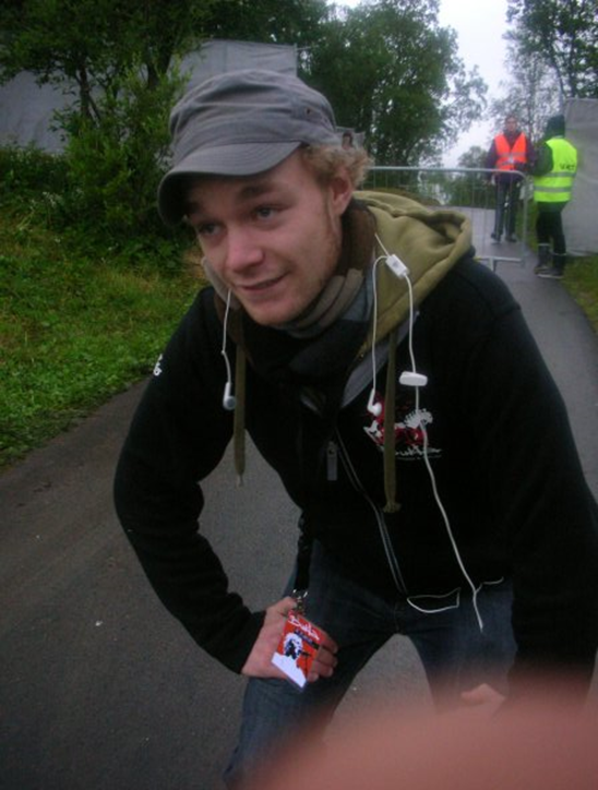 Egil Bye Damsgård første år som transportkoordinator i staben, 2007, rett etter en heftig transportlogistikk for Iggy Pop.