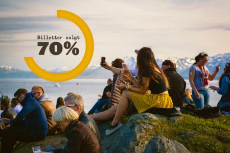 70 % av Bukta-billettene er solgt